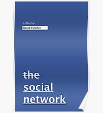 THE SOCIAL NETWORK / alternative typographic movie poster Poster
