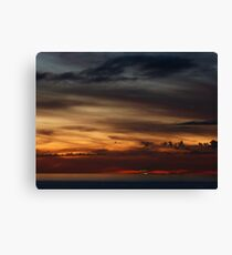 cruiser with sunset III - crucero con puesta del sol Canvas Print