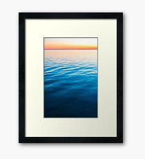 Horizon Glow Framed Print
