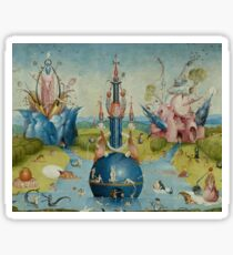 Hieronymus Bosch - Garden of Earthly Delights - Detail #3a Sticker