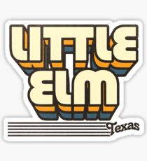 Little Elm, Texas | Retro Stripes Sticker
