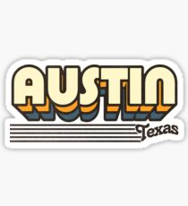 Austin, Texas | Retro Stripes Sticker