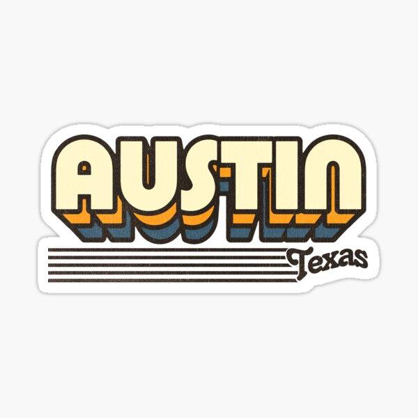 Austin, Texas | Retro Stripes Sticker