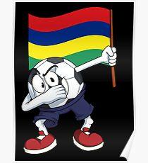 Mauritius Dabbing Soccer Ball Poster