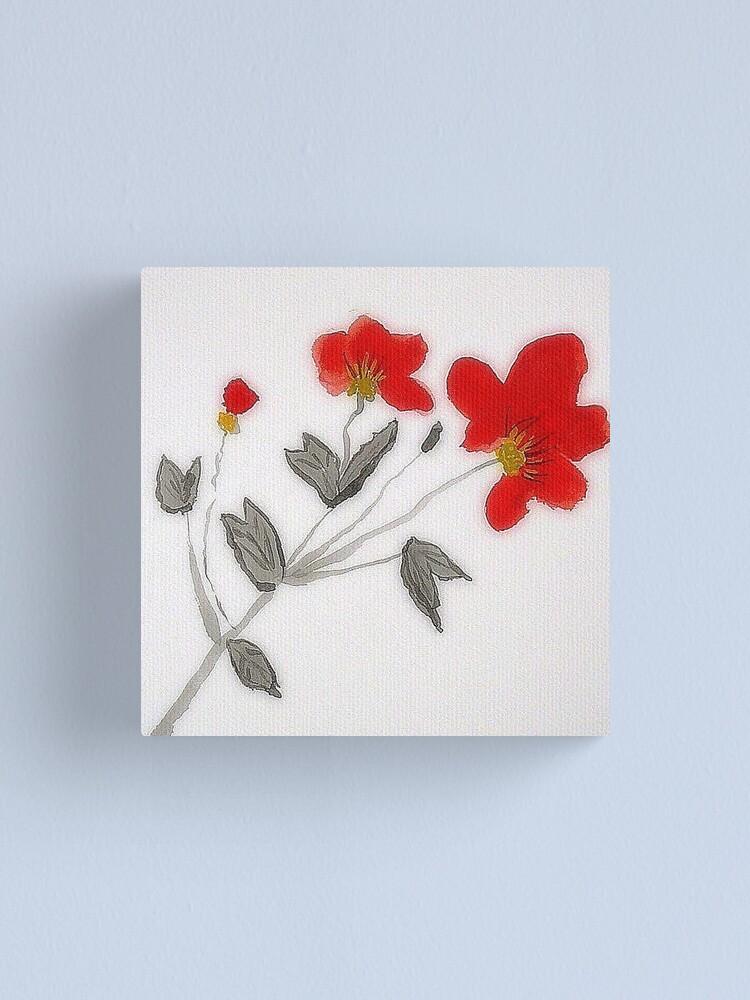 Alternate view of Oriental Poppies Canvas Print