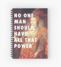 Slogan féministe Reine Elizabeth I Cahier à spirale