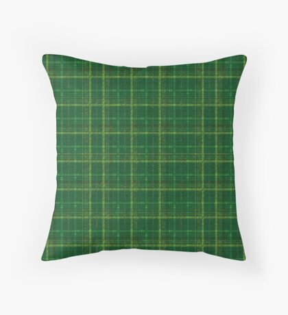 irish style tartan Throw Pillow