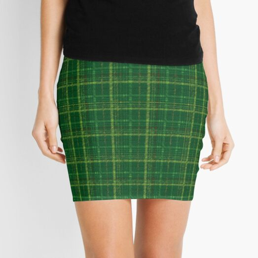 irish style tartan Mini Skirt