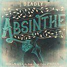 Absinthe Vintage Label by mindydidit