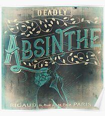 Absinthe Vintage Label Poster