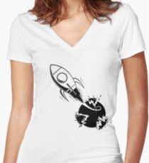 Evacuation Women's Fitted V-Neck T-Shirt