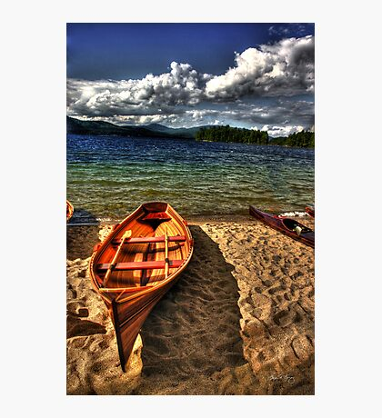 Wooden Rowboat at Wellington Beach Photographic Print