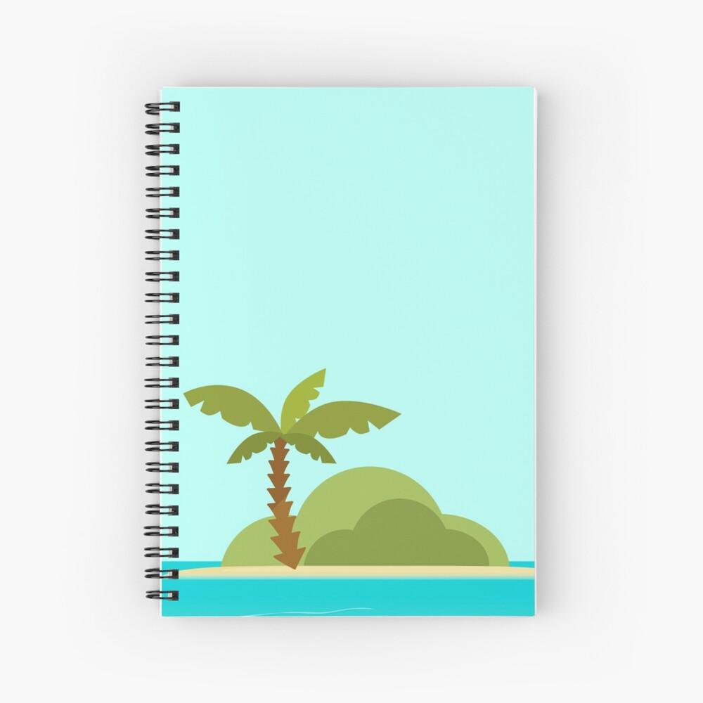 Warm Desert Island with Palm Tree Spiral Notebook