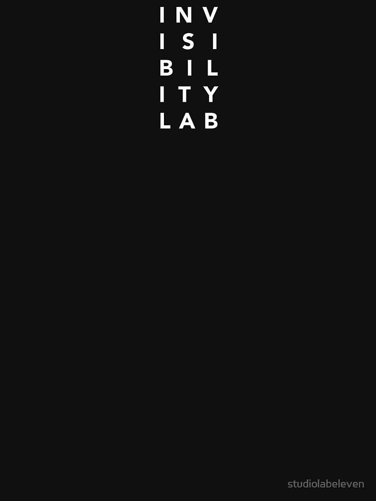 INVISIBILITY LAB WHITE LOGO by studiolabeleven