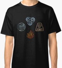 The four Elements Avatar symbols Classic T-Shirt