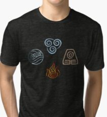 The four Elements Avatar symbols Tri-blend T-Shirt
