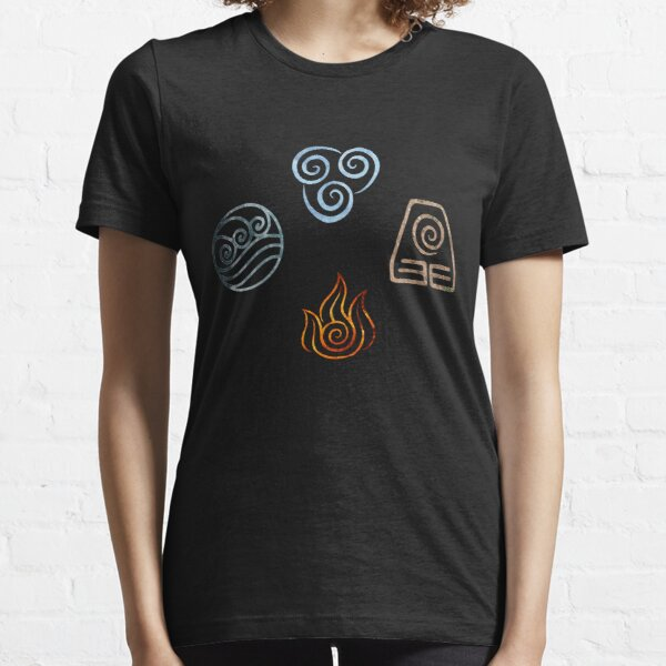 The four Elements Avatar symbols Essential T-Shirt