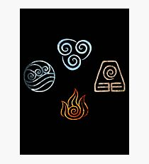 The four Elements Avatar symbols Photographic Print
