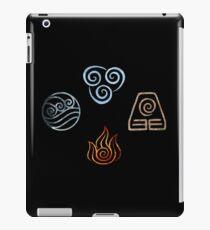 The four Elements Avatar symbols iPad Case/Skin