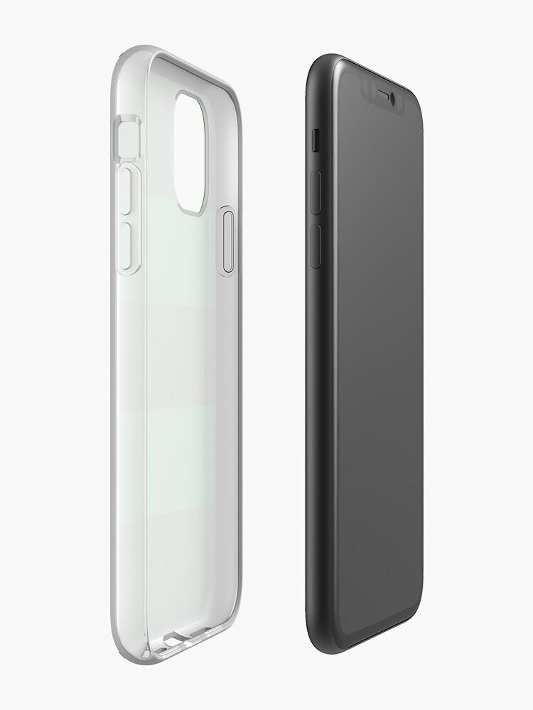 Coque iPhone «Rayures vertes simples», par boiiii