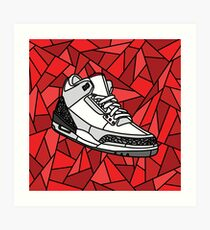 on sale bc3bc daeee Jordan Cement 3, Stained Glass Sneaker design Art Print