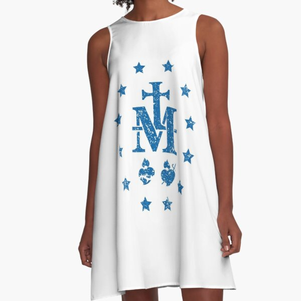Miraculous medal, unique among all medals  A-Line Dress