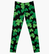 St. Patricks day clover pattern Leggings