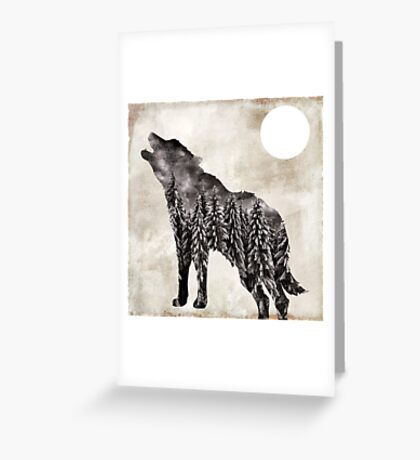 Going Wild Wolf Greeting Card
