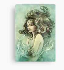 Zodiac Aquarius Metal Print