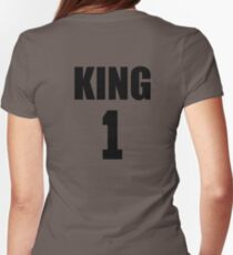 KING (Black) The His of The His and Hers couple shirts Womens Fitted T-Shirt