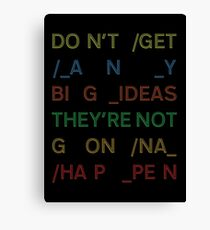 Radiohead - Nude - Big Ideas - In Rainbows Canvas Print