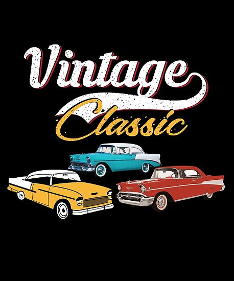 Vintage Classic Chevy Car Posters By Holidays4you Redbubble
