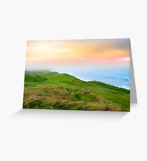 view of the Ballybunion links golf course Greeting Card