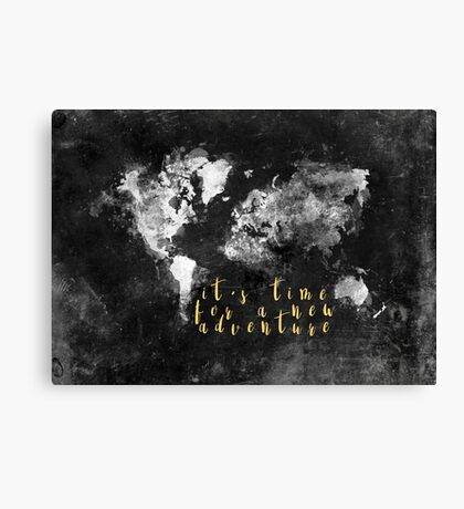 It's time for a new adventure #motivation #quotes Canvas Print