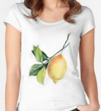 Branch of  lemons with leaves Women's Fitted Scoop T-Shirt