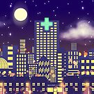 Nighttime Cityscape by Claire Greenhalgh
