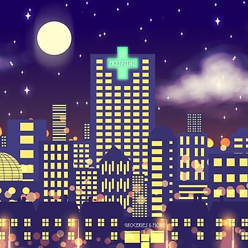 Nighttime Cityscape by Mewsa