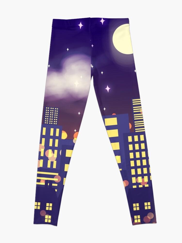 Alternate view of Nighttime Cityscape Leggings