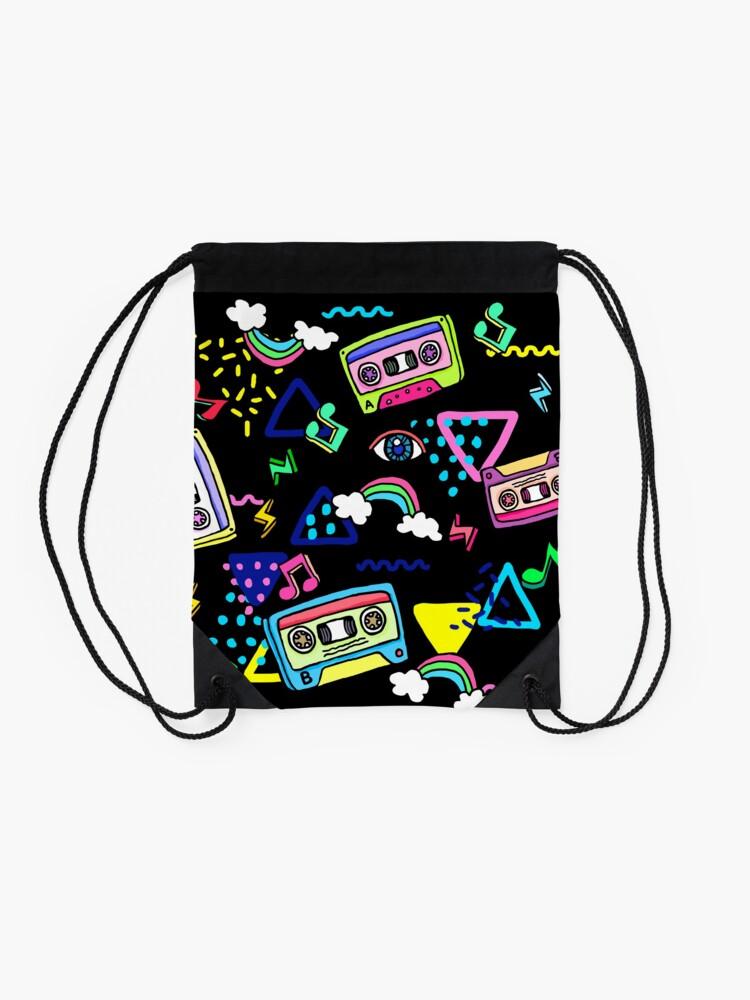 80/'s Abstract Drawstring bag