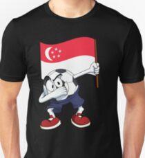 Singapore Dabbing Soccer Ball Unisex T-Shirt