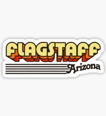 Flagstaff, Arizona | Retro Stripes Sticker