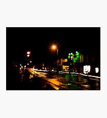 Street Crossing Light Painting  Photographic Print