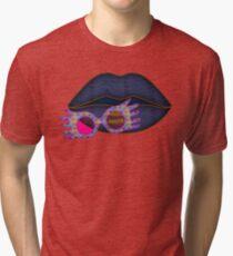 Loony - Bold Lipstick Tri-blend T-Shirt