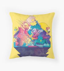 Red In Tooth And Claw Floor Pillow