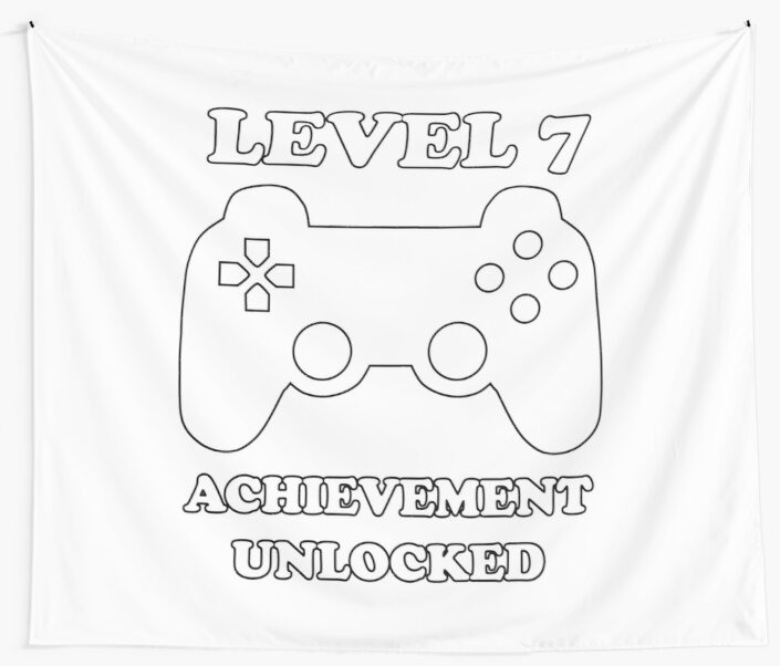 Level 7 Achievement Unlocked Gamer Next Level 7 Years Old Birthday
