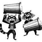 Metal Trash Pandas by jlc2903