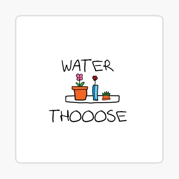 WATER THOOOSE Sticker