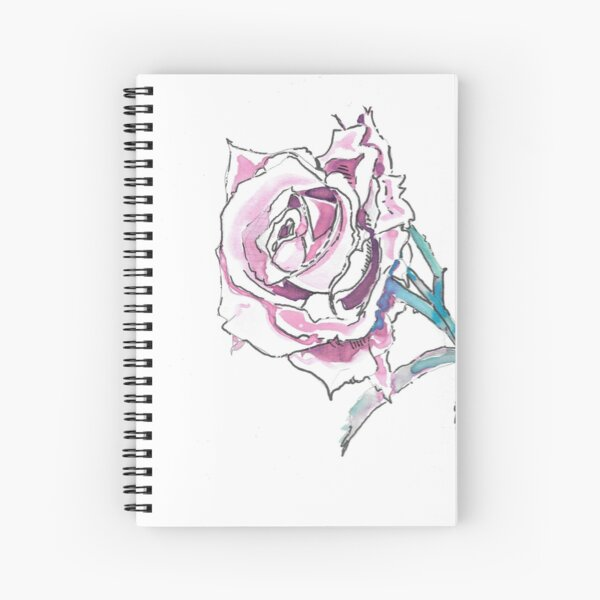 The Blooming Rose Spiral Notebook