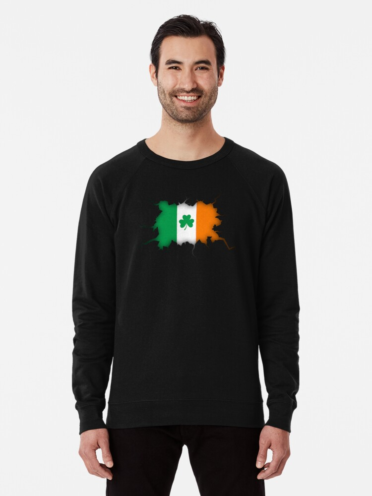 aa343fd0 Irish Inside - Shamrock Ireland Irish Flag T Shirt Tee Gift Lightweight  Sweatshirt