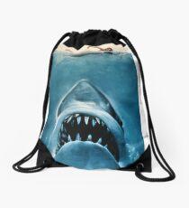 Jaws movie poster Drawstring Bag